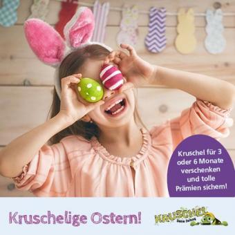Kruschel Kinderzeitung 3 Monate verschenken  + 12 Eier-Tattoos gratis