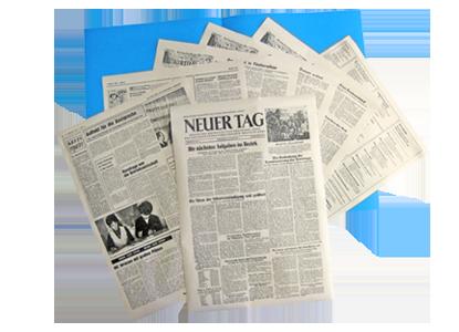 """Historische Geschenkzeitung """"Neuer Tag"""""""