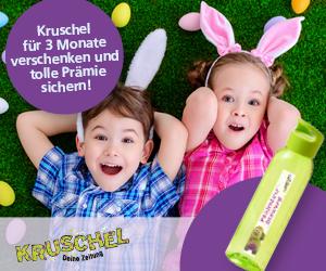 Kruschel Kinderzeitung 3 Monate verschenken  + Kruschel-Trinkflasche gratis dazu