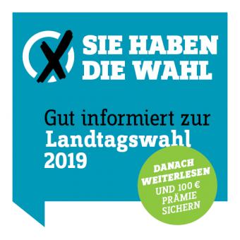 Wahl-Abo 2019 weiterlesen und 100 € Prämie sichern