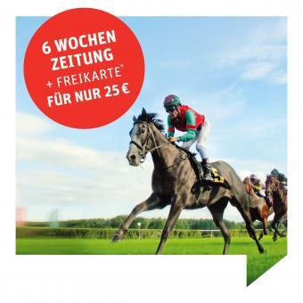 6 Wochen Zeitung + Freikarte* für die Rennbahn Hoppegarten